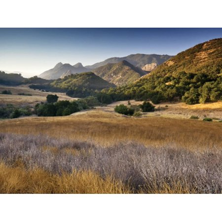 Malibu Creek State Park, from Mulholland Highway in Santa Monica Mountains Near Malibu Print Wall Art By Witold
