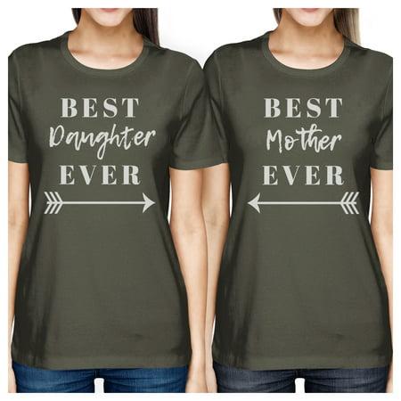 Best Daughter & Mother Ever Dark Grey Womens Matching Graphic