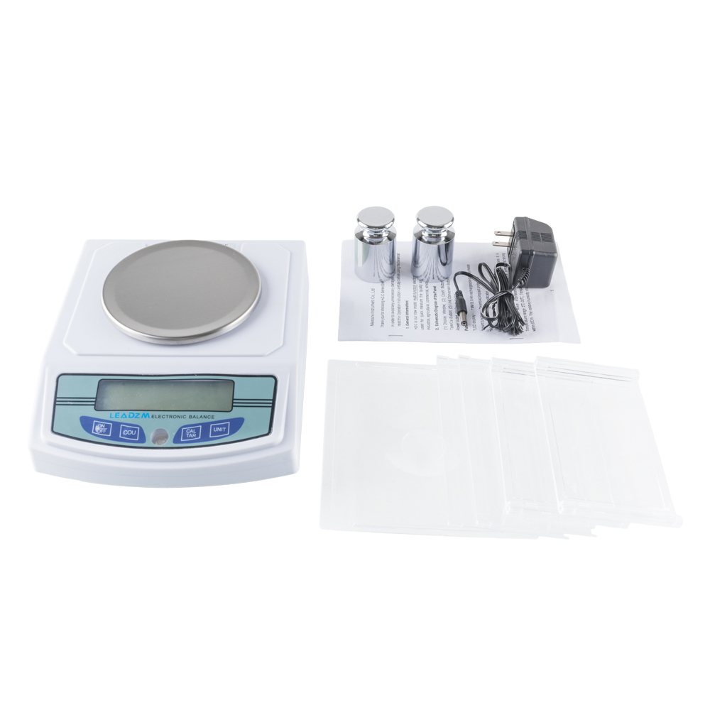 b602318e87b5 Zimtown LEADZM 3000G x 0.01 g Lab Analytical Balance Digital Precision  Scale U.S.