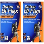 Osteo Bi-Flex Advanced Triple Strength, 80 Coated Caplets (Pack of 2), Two triple strength, easy-to-swallow caplets a day provide 5-LOXIN Advanced, which has.., By Osteo BiFlex