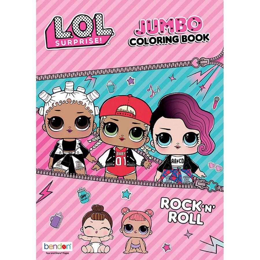 LOL Surprise Rock 'N' Roll Coloring & Activity Book   Walmart.com