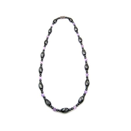 Amethyst Magnetic Therapy Hematite Necklace For Arthritis Hematite Obsidian Necklace