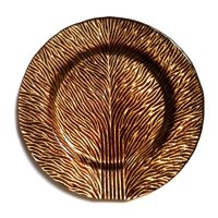 "Tree Of Life 8"" Gold Brown Salad Plate"