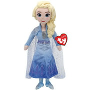 TY Disney Frozen 2 Movie Elsa 15.5 Inch Tall Collectible Stuffed Plush Toy