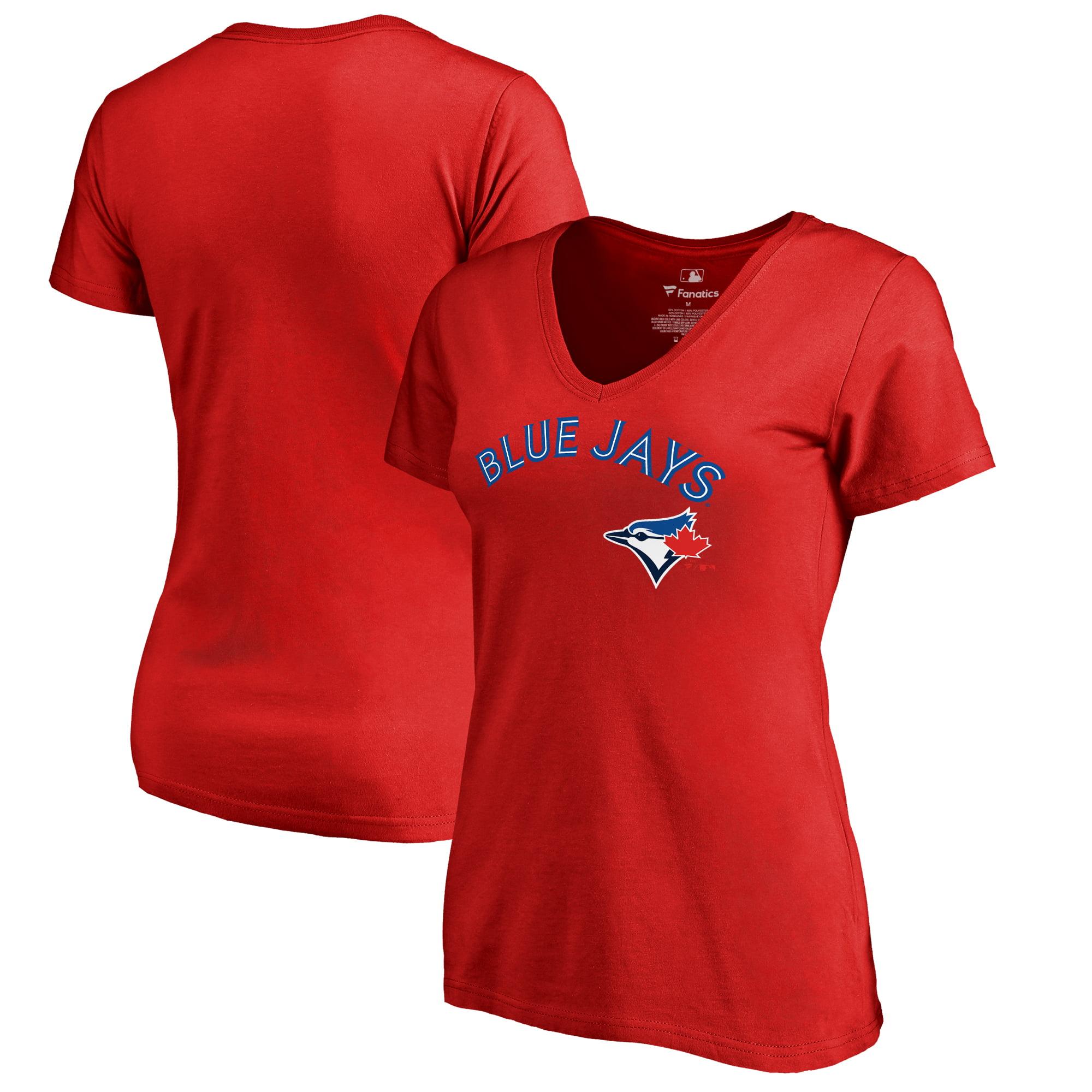 Toronto Blue Jays Fanatics Branded Women's Plus Sizes Team Lockup T-Shirt - Red
