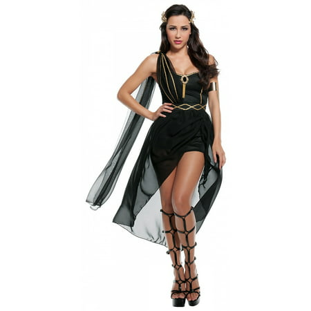Dark Roman Goddess Sexy Adult Costume - Roman Goddess Halloween Costume
