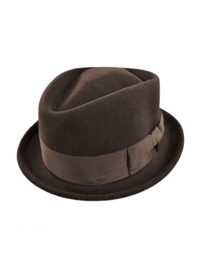 bbee371f Product Image Crushable Wool Felt Diamond Crown Fedora Hat - XL - Brown. Jaxon  Hats