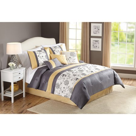 Better Homes And Gardens 7 Piece Peonies Comforter Set