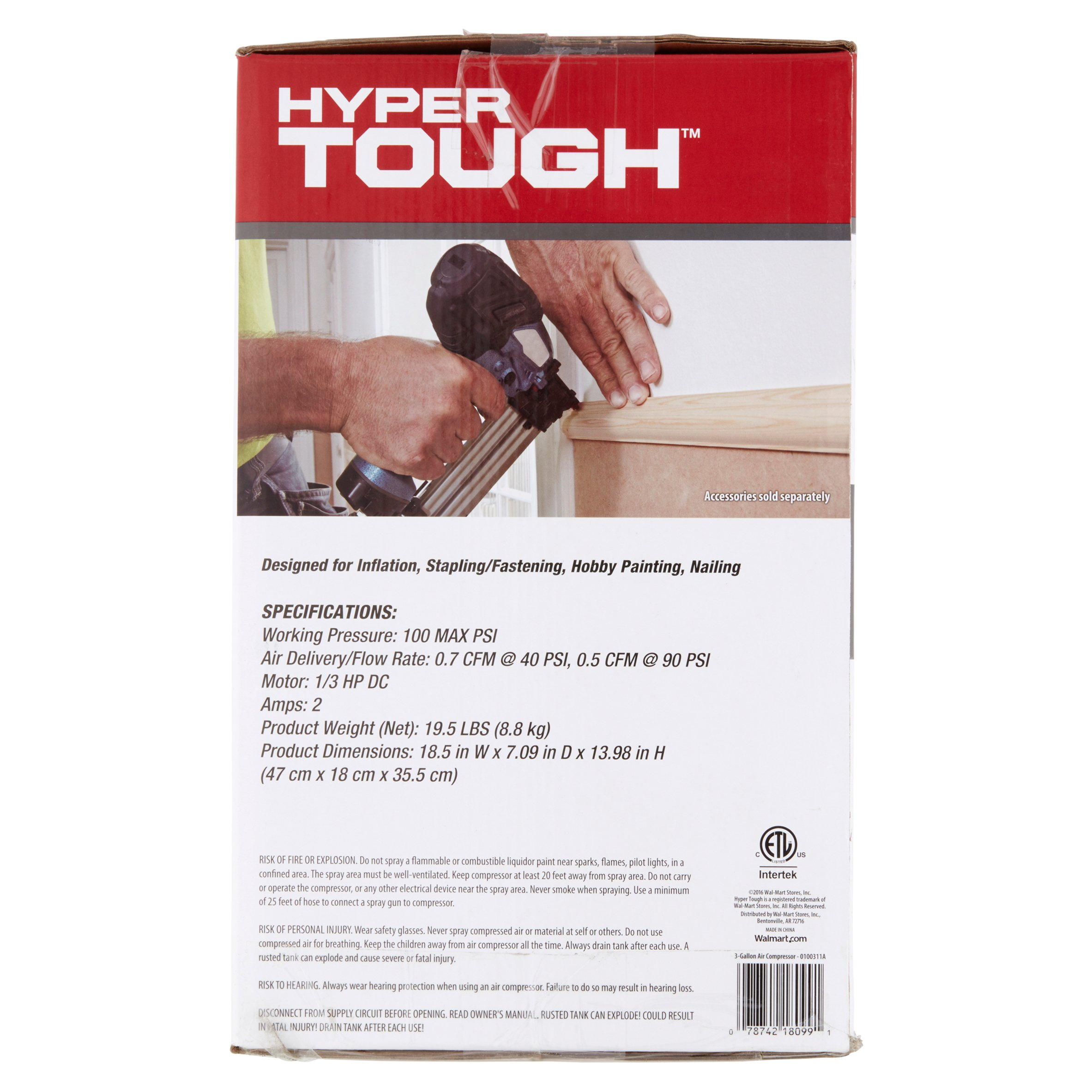 Hyper Tough 3 Gallon Air Compressor Wire Run List And Control Circuits Cont Figure 7
