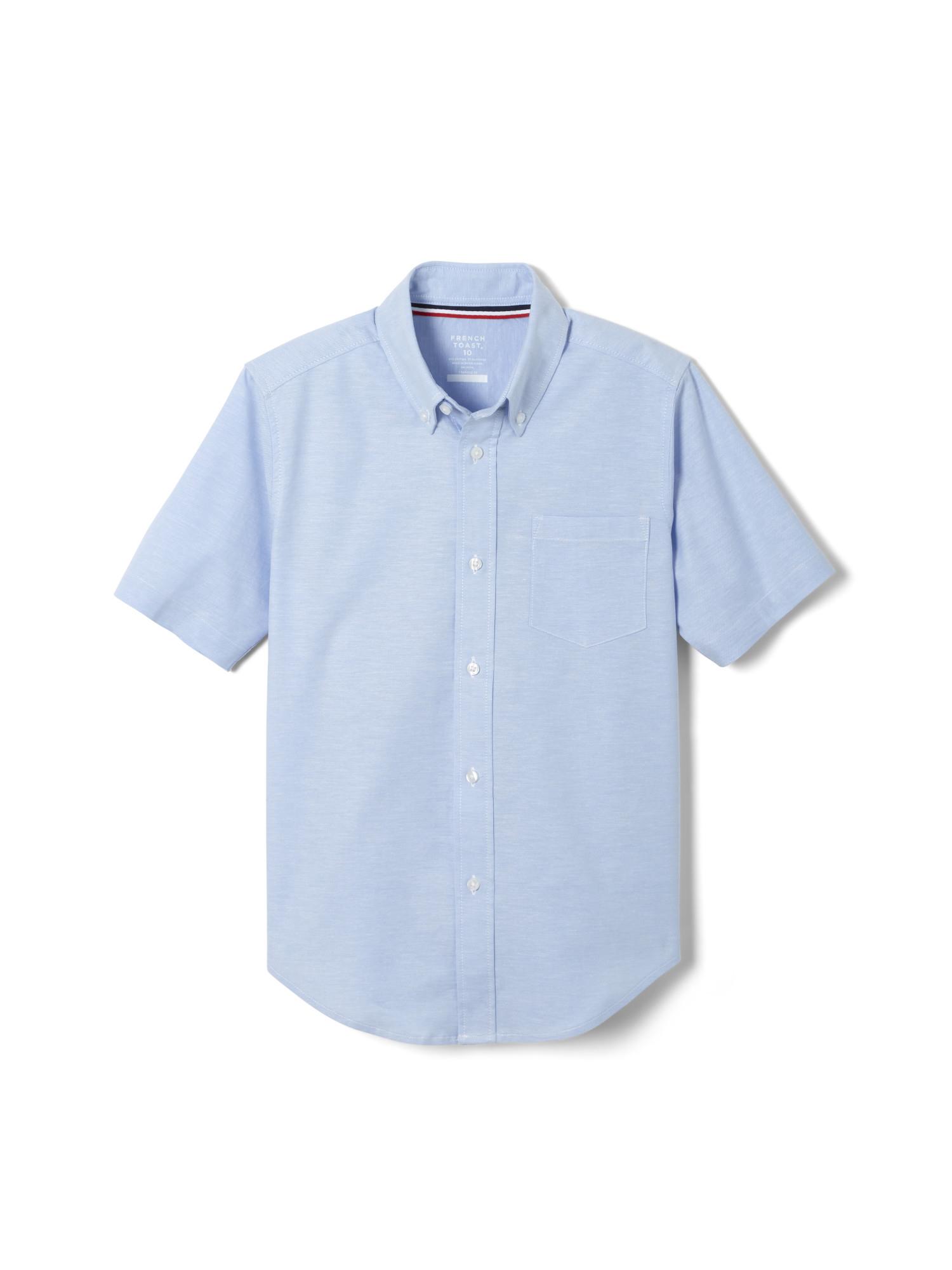 Standard /& Husky French Toast Boys Short Sleeve Classic Poplin Dress Shirt