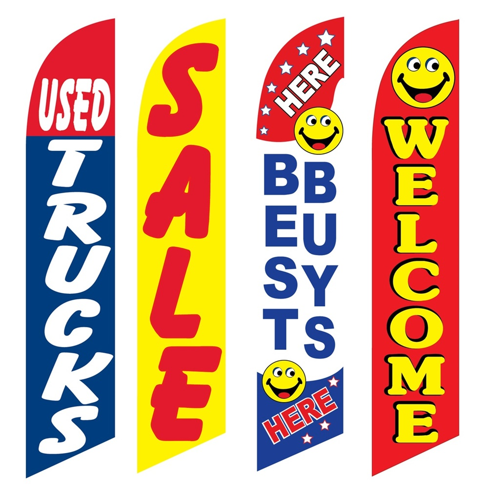4 Advertising Swooper Flags Used Trucks Sale Best Buys Here Welcome