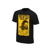"Official WWE Authentic Cactus Jack ""Wanted"" Retro T-Shirt Black Small"