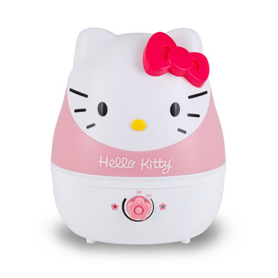 Crane - Adorable Ultrasonic Cool Mist Humidifier Hello Kitty - EE-4109, Pink & White