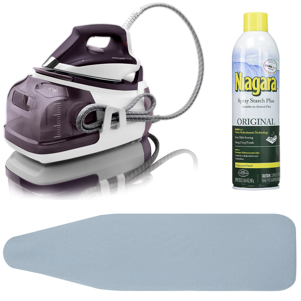 Rowenta DG8520 Steam Iron Station Garment Steamer+ Ironin...