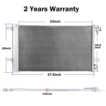 3794 A/C AC Condenser For 2010-2017 Chevy Cruze Buick LaCrosse Cadillac &  2013-2015 Chevrolet Malibu