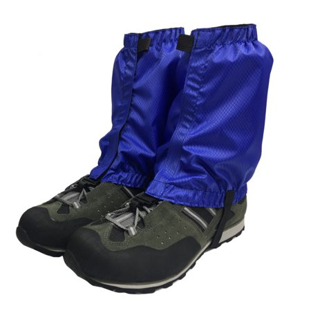 1 Pair Hiking Hunting Boot Gaiters Waterproof Snow Snake High Leg Durable Shoes Cover Blue thumbnail
