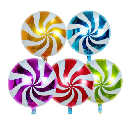 Mosunx 10Pcs Foil Round Candy Lollipop Balloons - Birthday Party Decoration