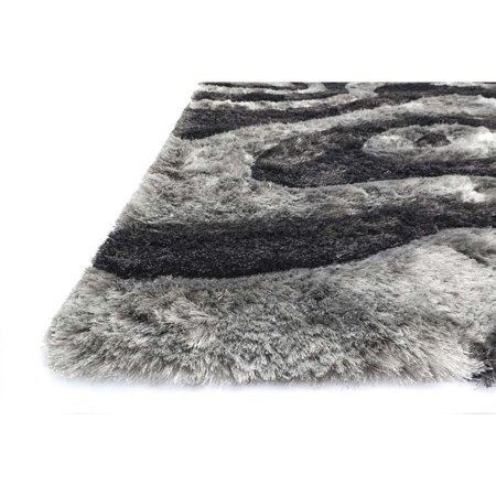 """Loloi Glamour 5' x 7'6"""" Hand Tufted Shag Rug in Smoke - image 1 of 2"""