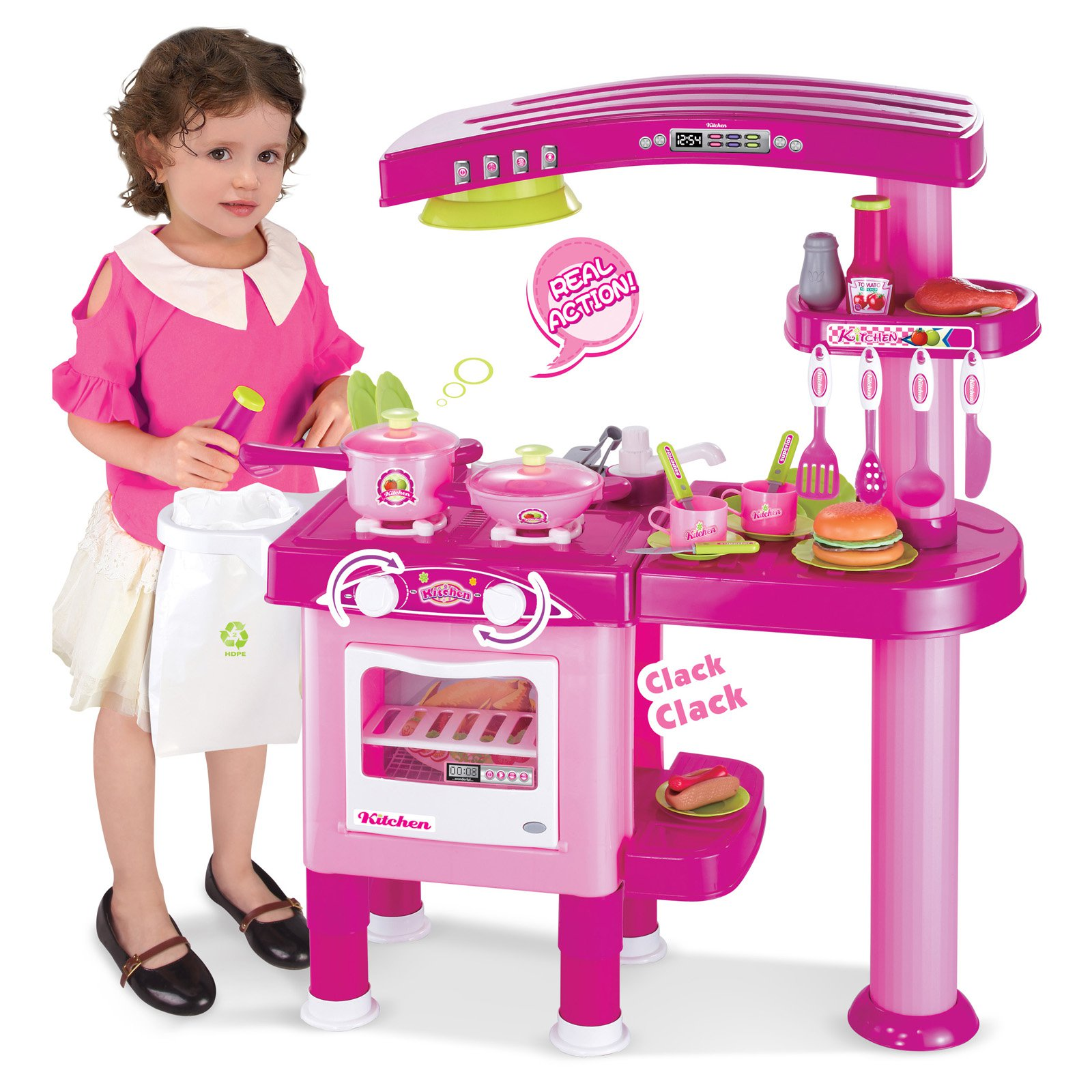 berry toys my first play kitchen - pink - walmart
