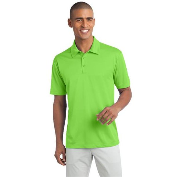 TLK540 Mens Silk Touch Performance Polo T-Shirt, Lime - Extra Large Tall