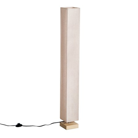 Homcom 47 Quot Modern Square Linen Fabric Shade Floor Lamp
