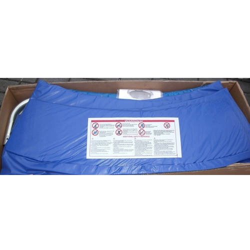 ExacMe Trampoline Replacement Safety Pad Frame Spring Round Cover, 12-Foot, Blue