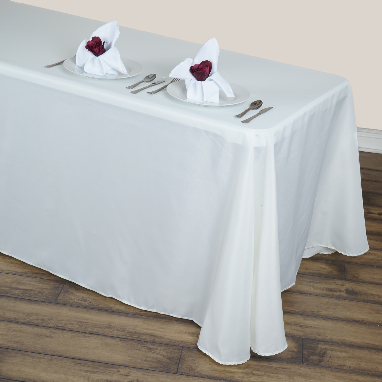 Charmant Efavormart Round Corner Polyester Rectangle Tablecloths For Kitchen Dining  Catering Wedding Birthday Party Decorations Events   Walmart.com