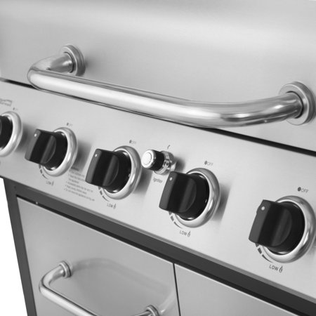 Royal Gourmet SG6002 Classic 6-Burner 71000-BTU LP Gas Grill with Sear Burner and Side Burner, Stainless Steel