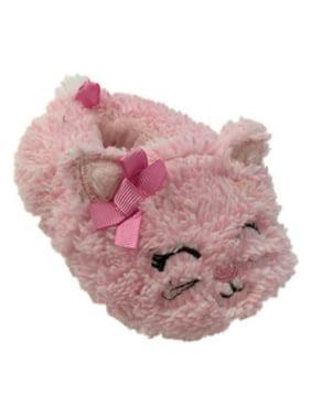 Infant Girls Plush Pink Kitty Cat Baby Slippers Prewalk Kitten House Shoes
