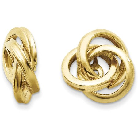 14kt Yellow Gold Polished Love Knot Earring Jackets