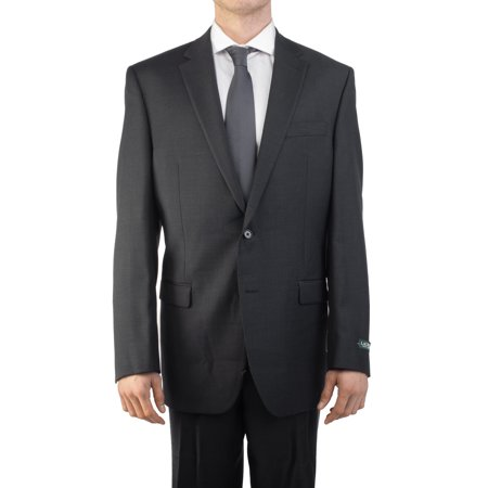 Medium Grey Wool Suit - Lauren Ralph Lauren Men's Two Button Wool Suit Charcoal Grey