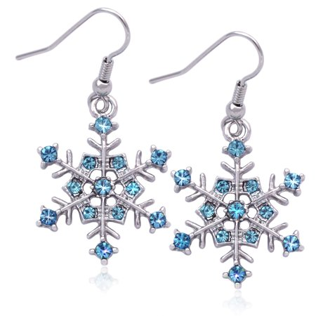 Lavender Dangle (cocojewelry Snowflake Charm Dangle Earrings Bridesmaid Christmas Holiday)