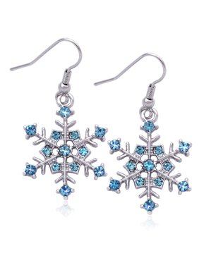 77e39e254 Product Image cocojewelry Snowflake Charm Dangle Earrings Bridesmaid  Christmas Holiday Jewelry. Coco Jewelry