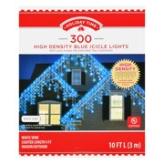 Holiday Time 300 Count Blue High Density Icicle Christmas Lights