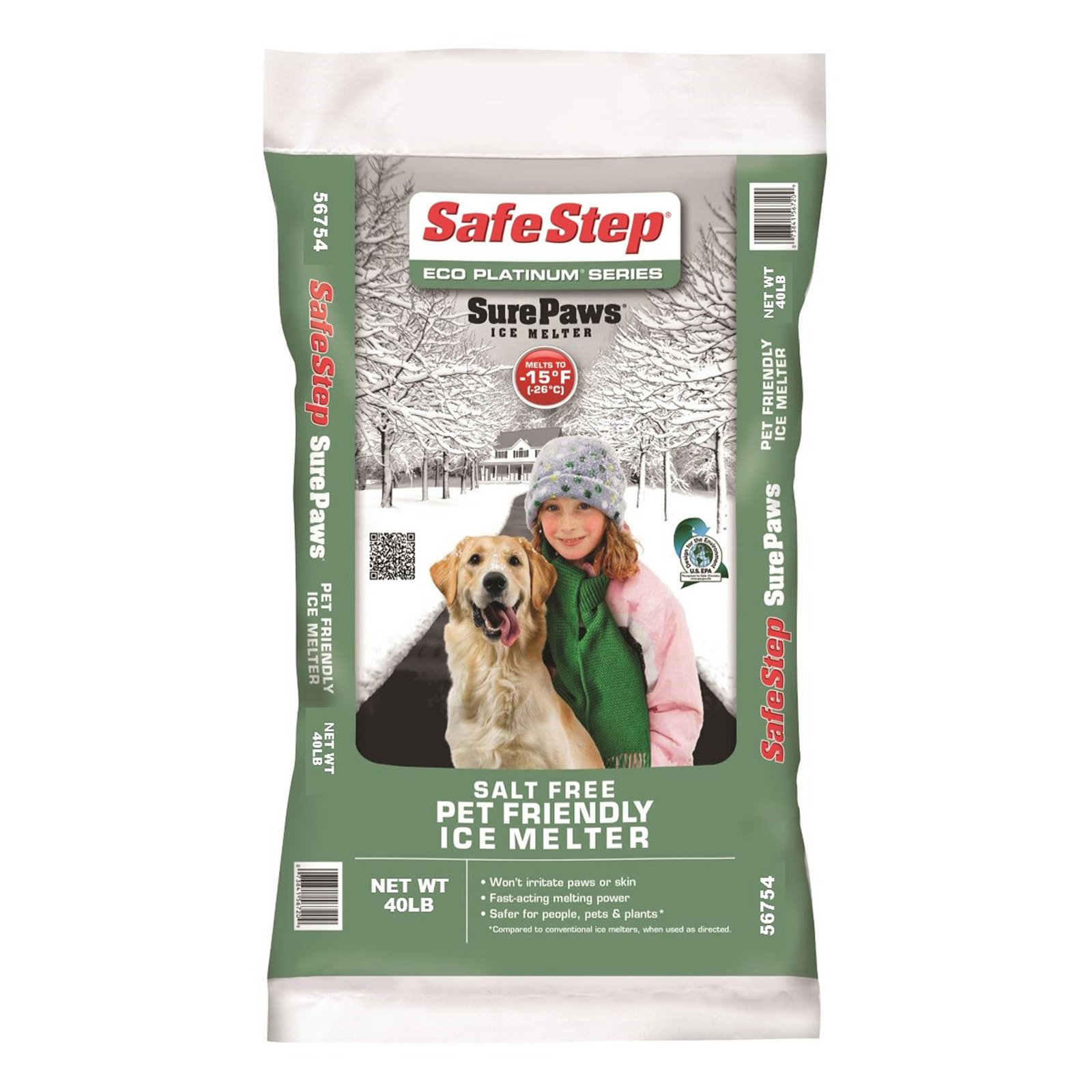 Safe Step Eco Platinum Series Sure Paws Ice Melter - 40 lbs.