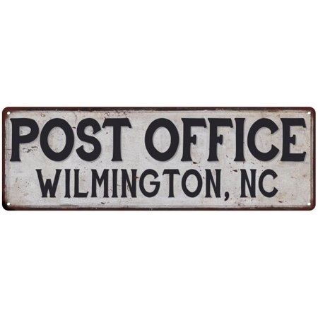 Wilmington, Nc Post Office Personalized Metal Sign Vintage 6x18 206180011228 - Halloween Stores In Wilmington Nc