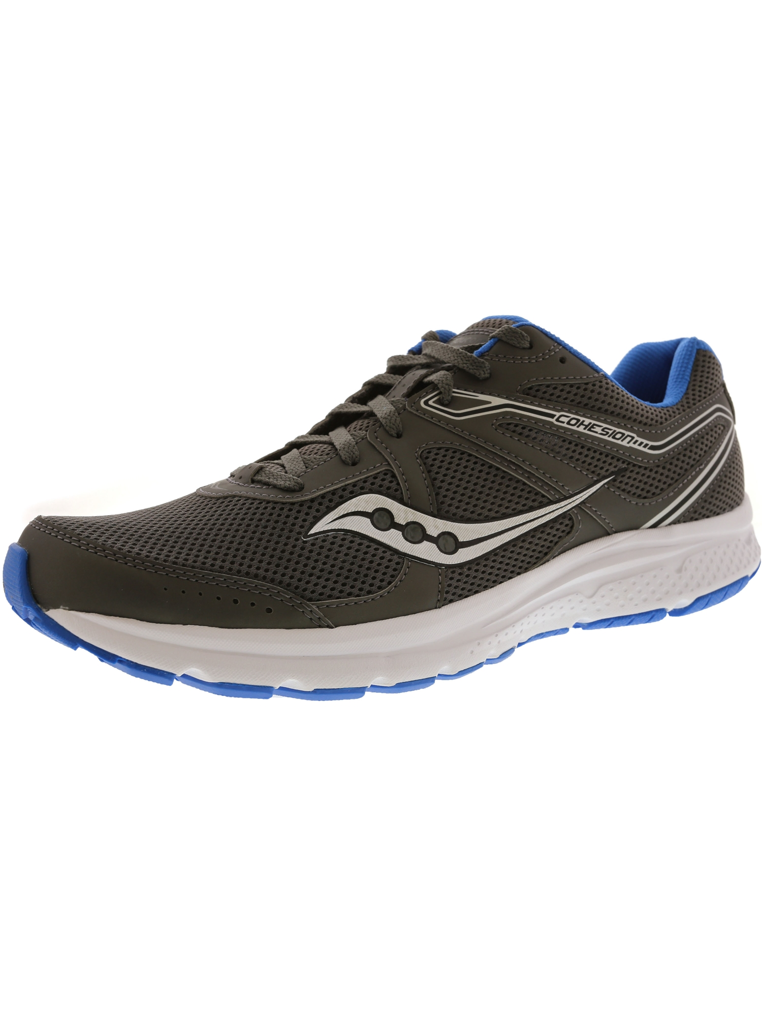 Saucony Men's Grid Cohesion 11 Silver / Orange Ankle-High Mesh Running Shoe - 10.5M