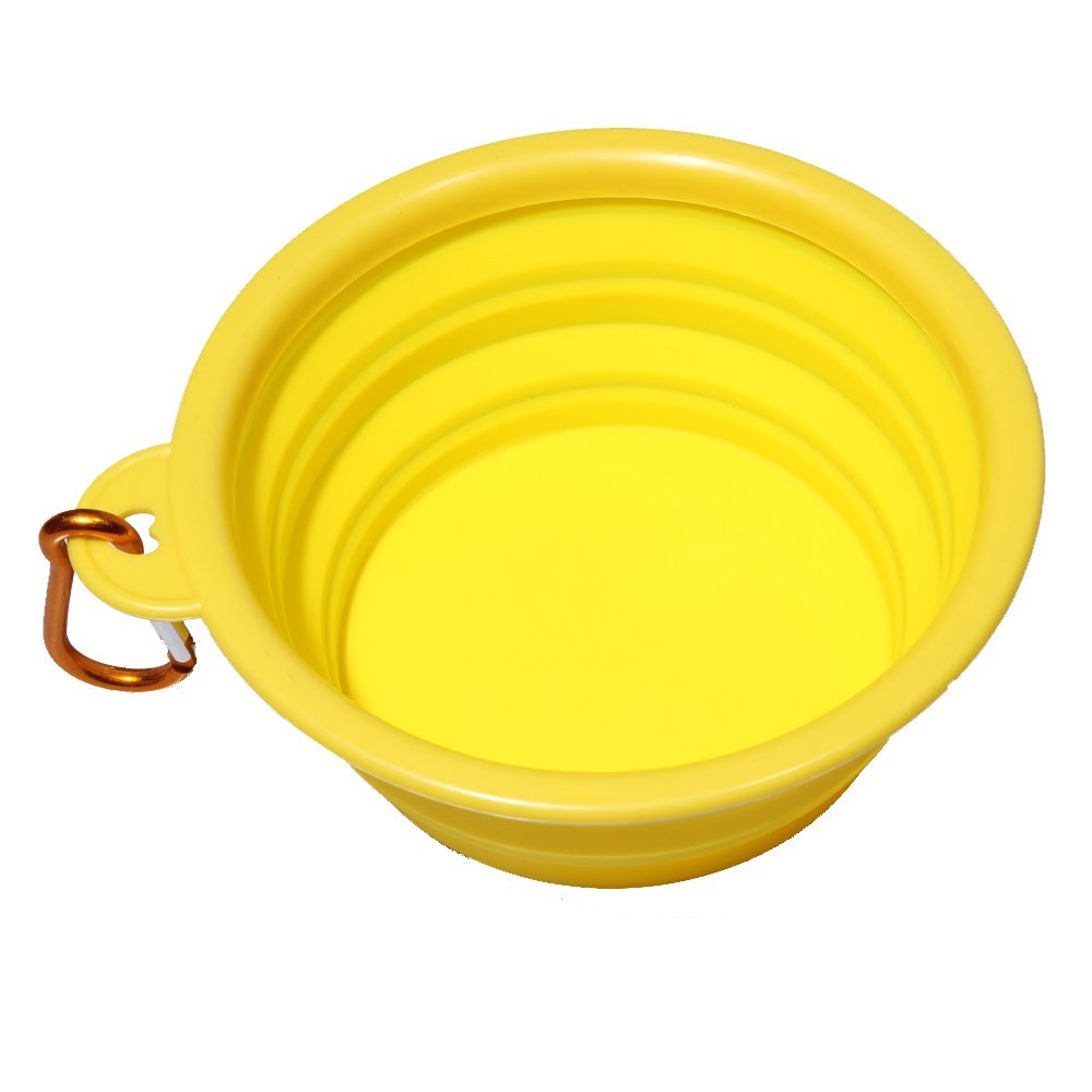 Dog Bowl Collapsible Silicone Foldable Expandable Cup Dish for Pet Cat Food Water Feeding Portable Travel Bowl