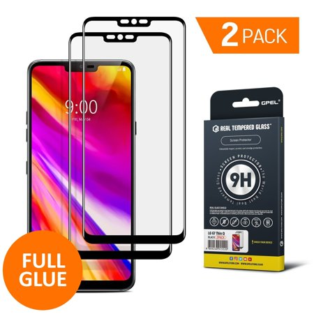 GPEL Screen Protector for LG G7 ThinQ Full Glue Case Friendly Work with Most Case Premium Japanese Asahi Real Tempered Glass HD Clear Easy Installation 9H Hardness 99% Touch Accurate (Dropped Phone And Touch Screen Wont Work)