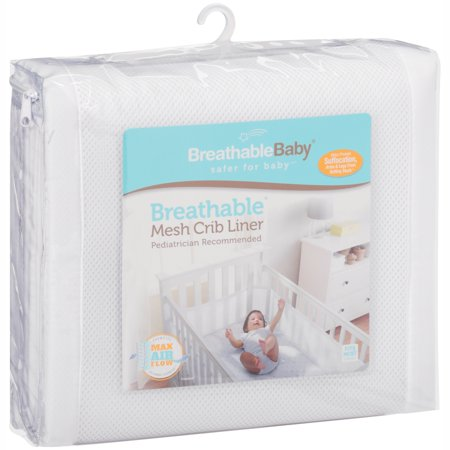 32aefa783 Breathable Baby® Breathable® White Mesh Crib Liner - Walmart.com