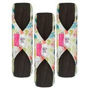 Heart Felt Reusable Sanitary Pads XL (Pack of 3, Floral Print)