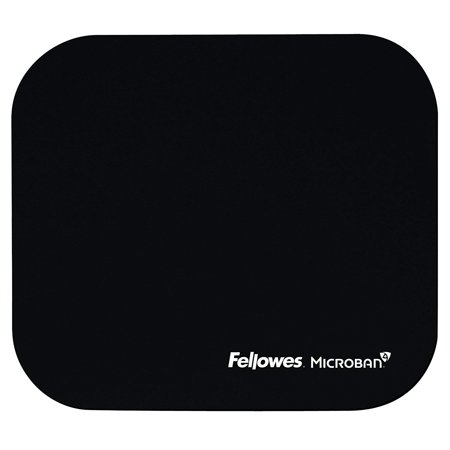 MICROBAN BLK MOUSEPAD (5933901), New and improved Microban antimicrobial protection keeps product cleaner By Fellowes