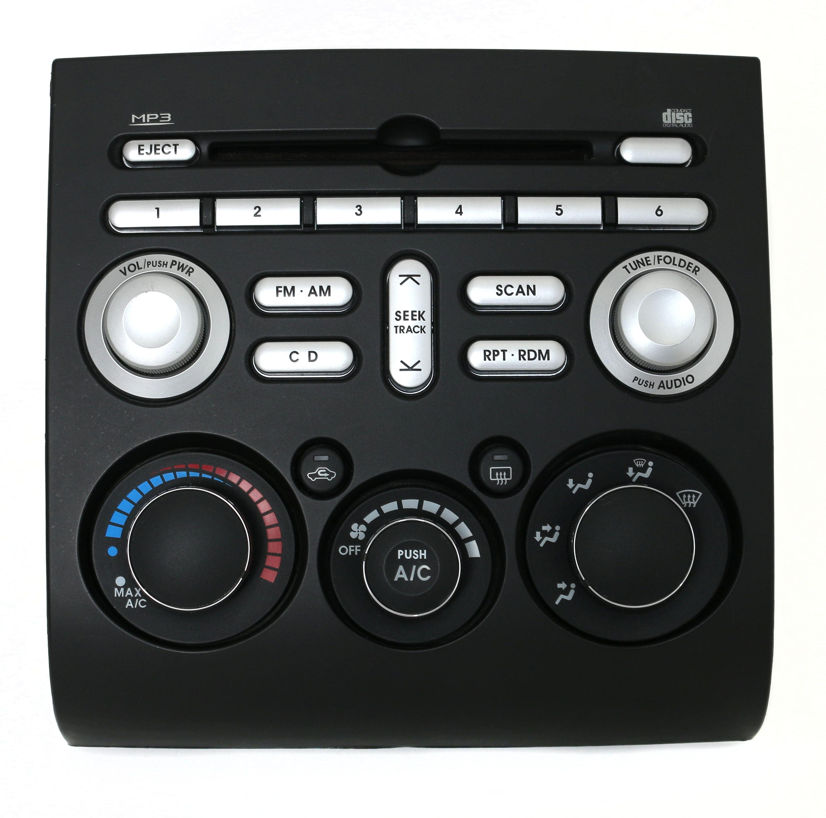 06-09 Mitsubishi Eclipse Endeavor Galant AM FM Radio mp3 CD Temp Cntrls 8701A045 Refurbished by Mitsubishi