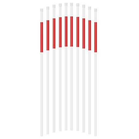 FiberMarker Reflective snow Markers 36-Inch Driveway Reflectors Snow Stakes 1/4-Inch (Dia.) White 12-Pack