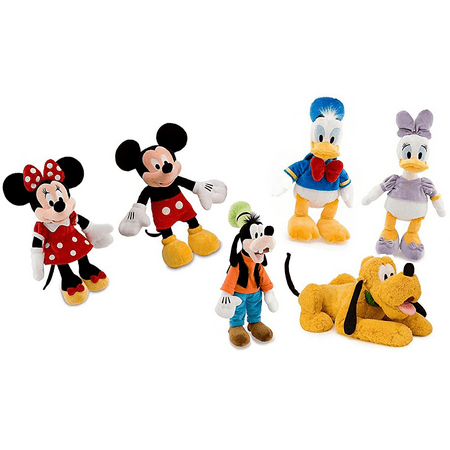[ Mickey Mouse - Minnie Mouse - Donald Duck - Daisy Duck - Goofy - Pluto ] Fabulous Five + 1 (Deluxe Collector Set of 6) Medium Plush Figure Doll 18