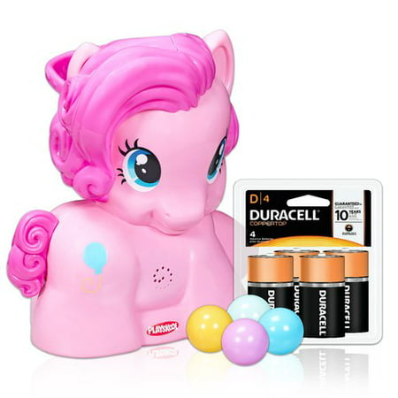 Playskool Friends Pinkie Pie Party Popper Featuring My Little Pony with Duracell Coppertop Batteries Value