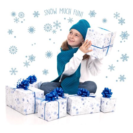 Snowflakes Snow Much Fun Small Wall Decal](Snowflake Window Decals)