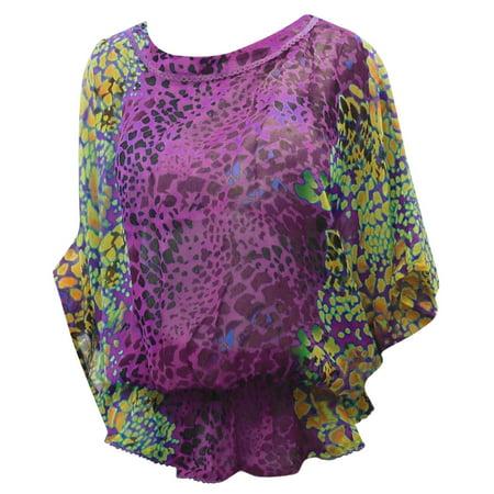 f4127f73e8fc1 LA LEELA - La Leela LIGHTWEIGHT CHIFFON Paisley Beach Swimsuit Caftan Dress  Cover ups Tunic - Walmart.com