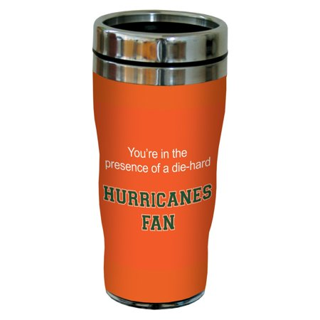 Tree-Free Greetings sg24783 Hurricanes College Basketball Sip 'N Go Stainless Steel Lined Travel Tumbler, 16 Ounce