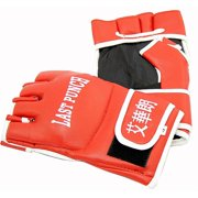 127 Leather Wrist wrap Heavy Bag Gloves Boxing Training Gloves
